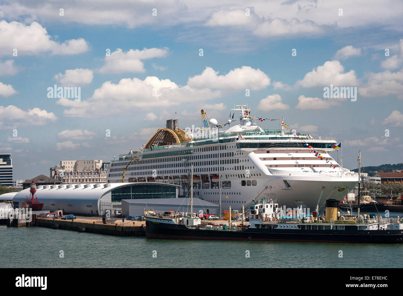 P&O's cruise ship Oceana in port at Southampton, England. Stock Photo