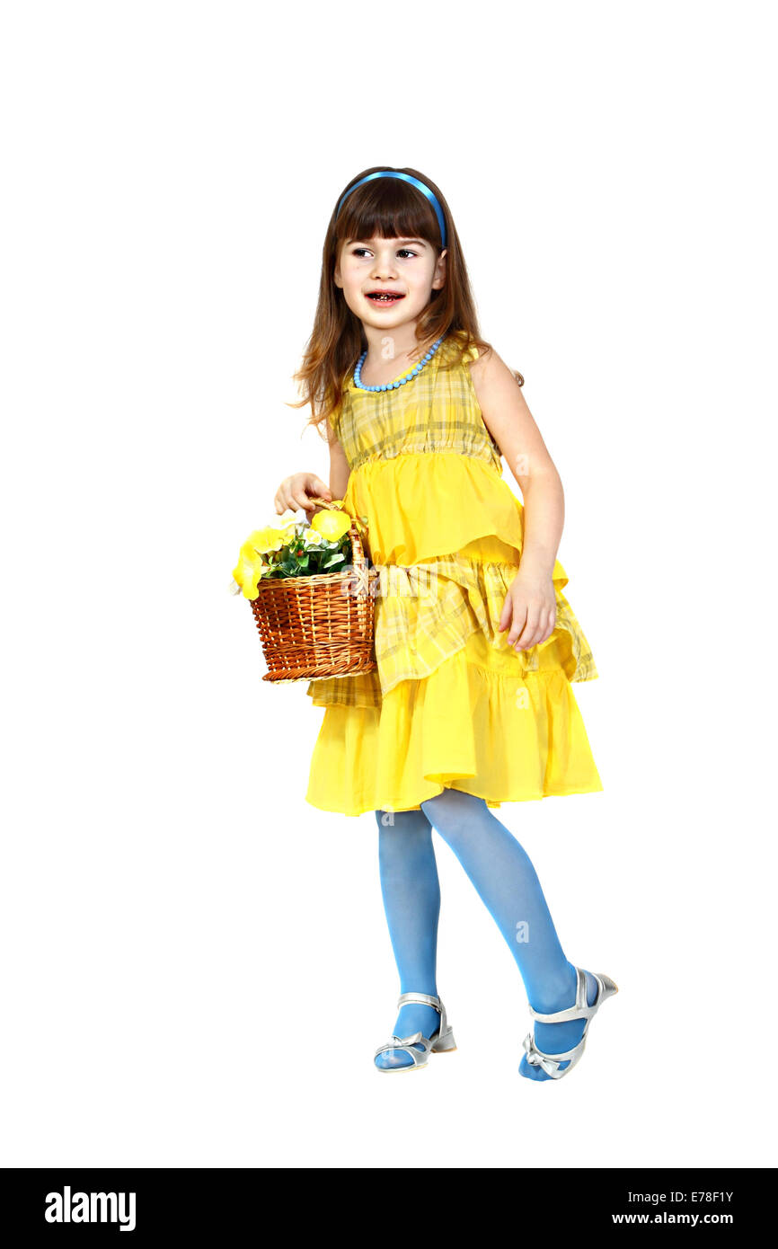 Little Girl In Yellow Dress Stock Photos Little Girl In Yellow