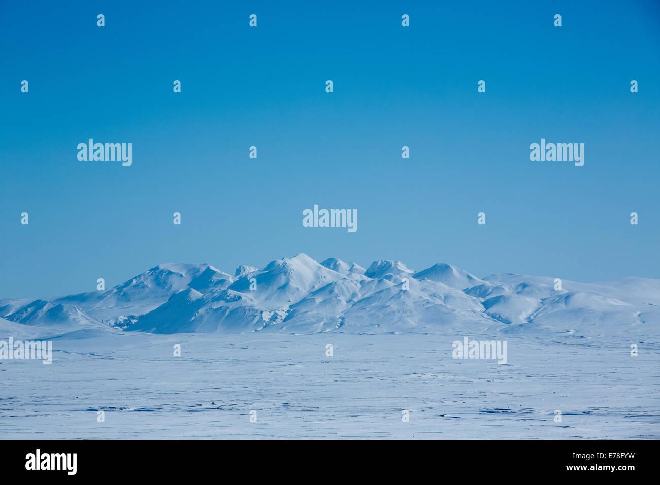 on the Langjökull glacier, Iceland Stock Photo