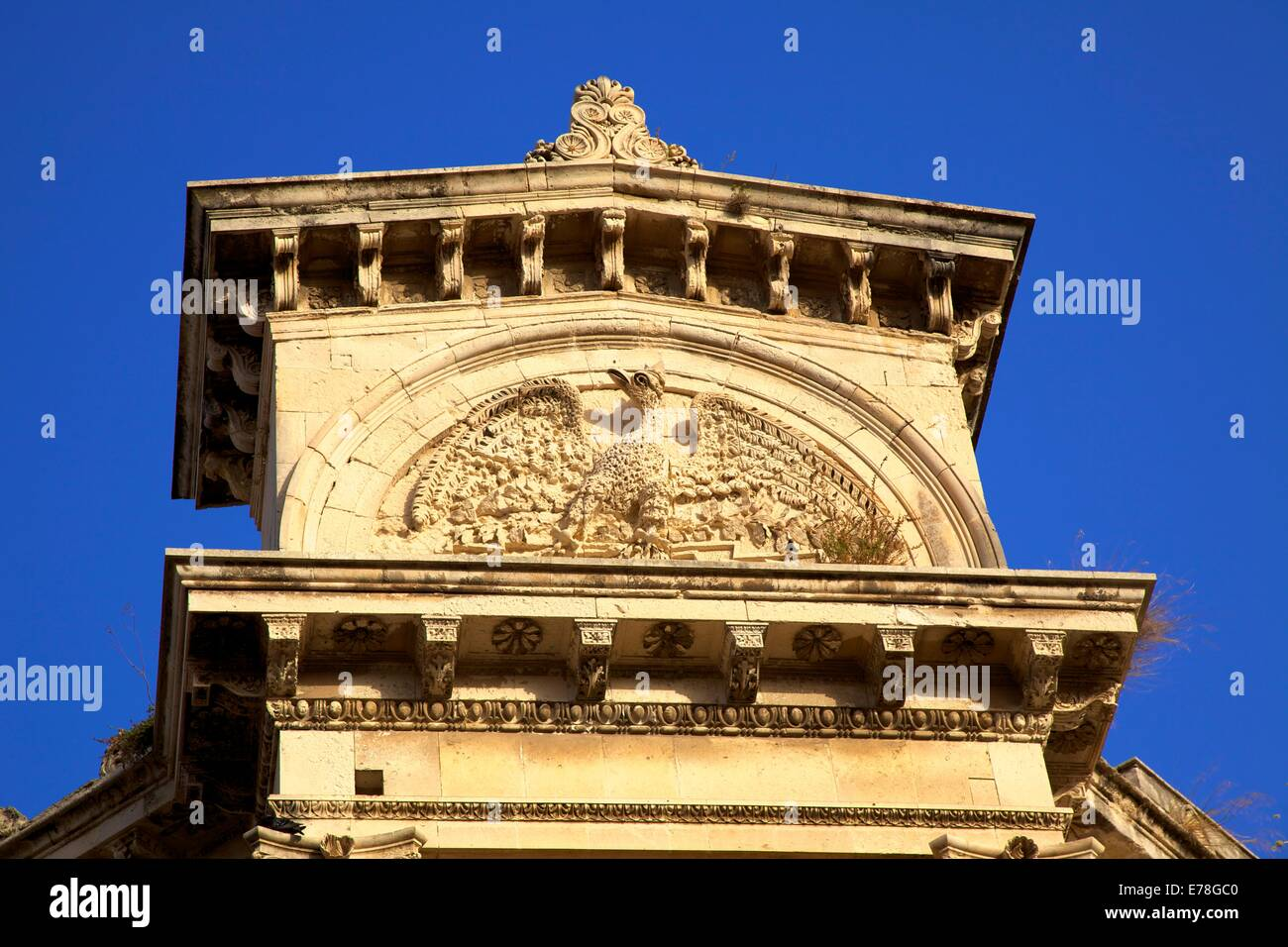 Architectural Detail, Ortygia, Syracuse, Sicily, Italy, Southern Europe - Stock Image