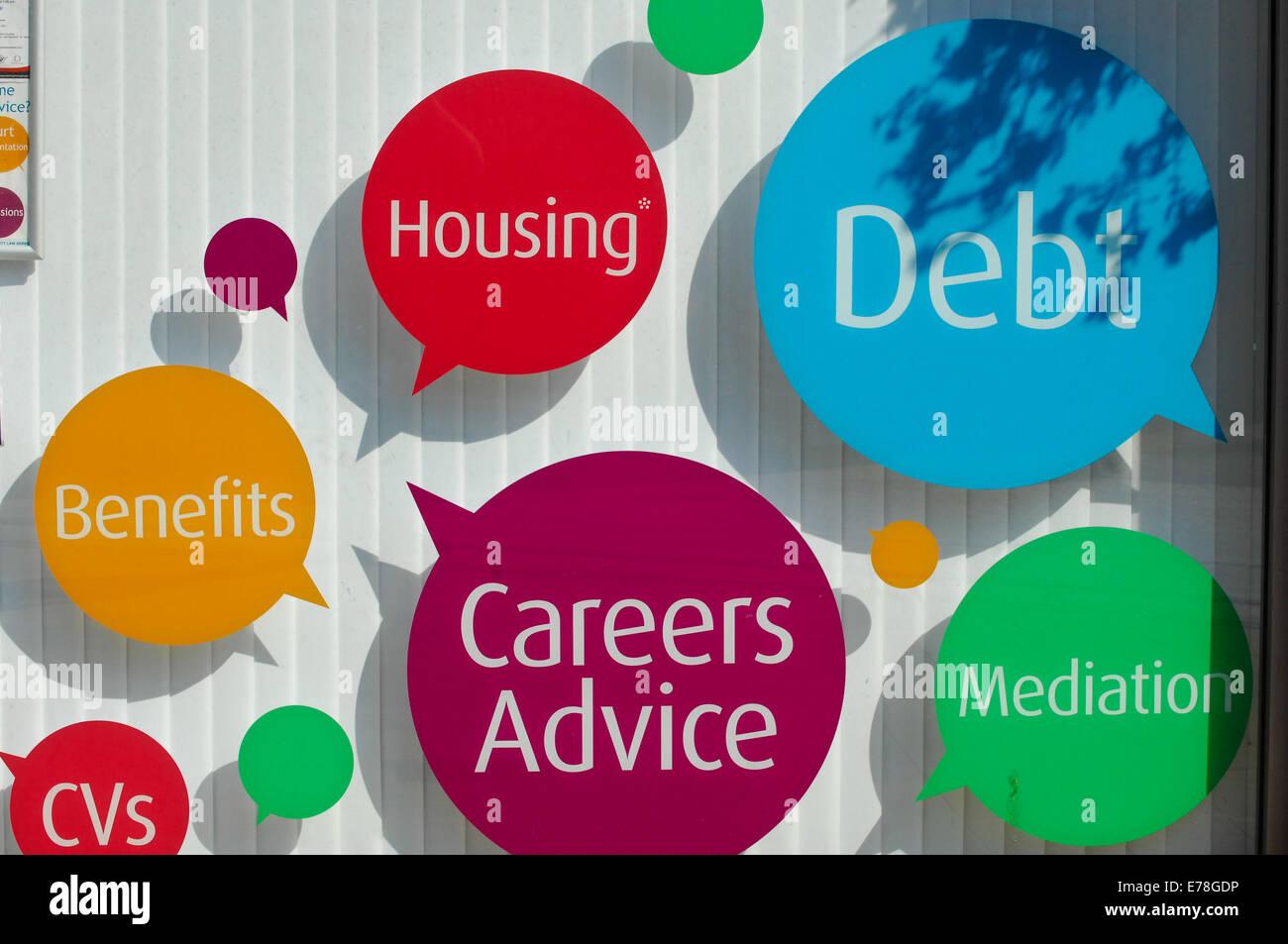 Citizens advice office shop - Stock Image