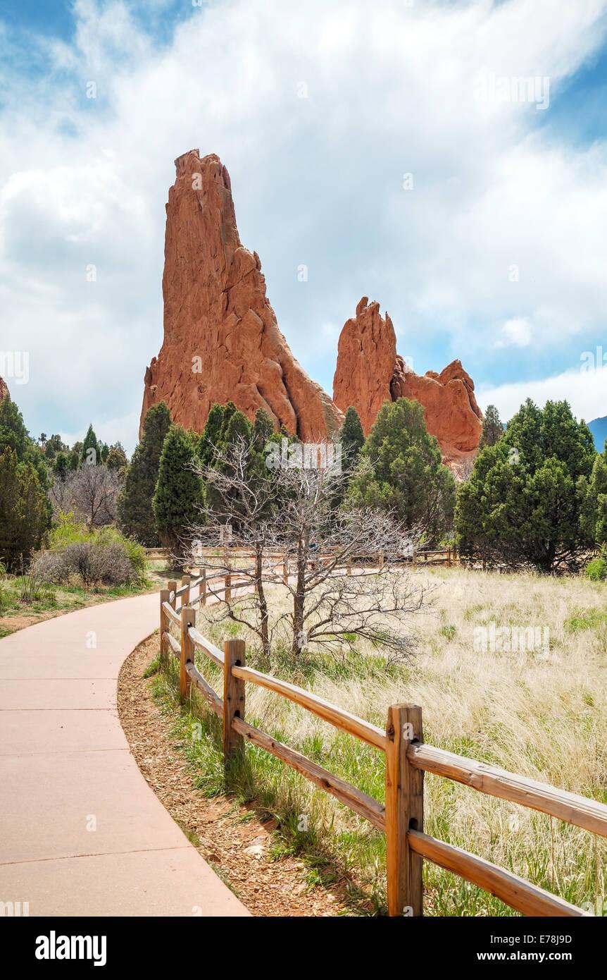 Garden of the Gods in Colorado Springs, Colorado - Stock Image