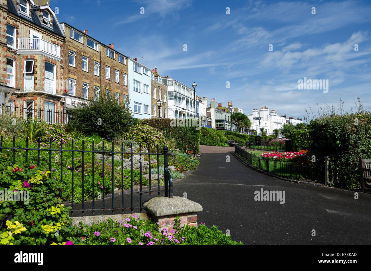 Victoria parade, in Broadstairs. - Stock Image