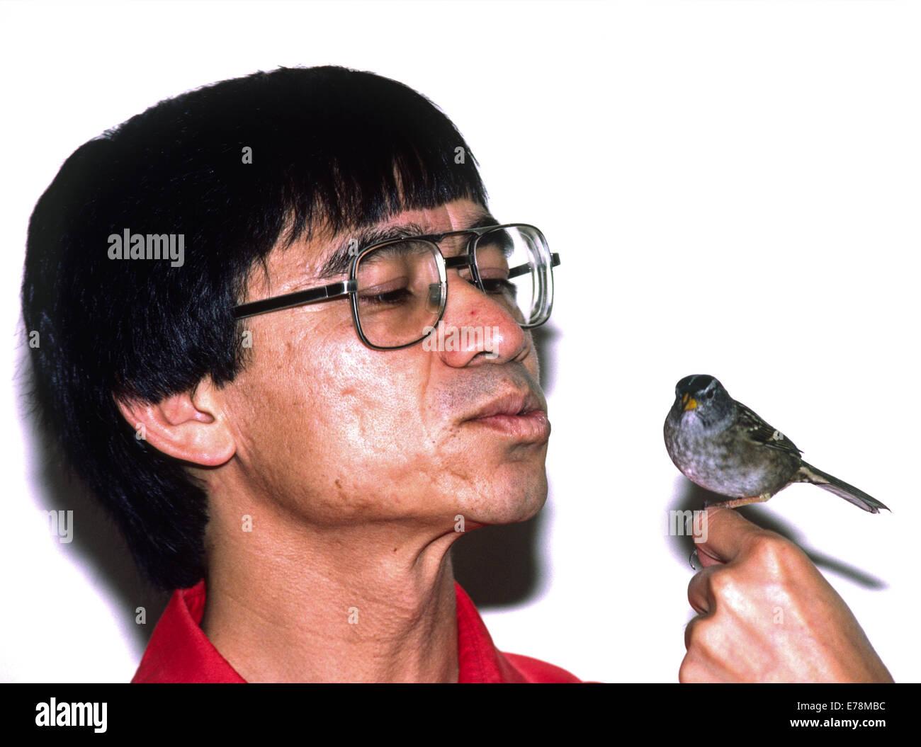 Luis Baptista, ornithologist, California Academy of Sciences - Stock Image