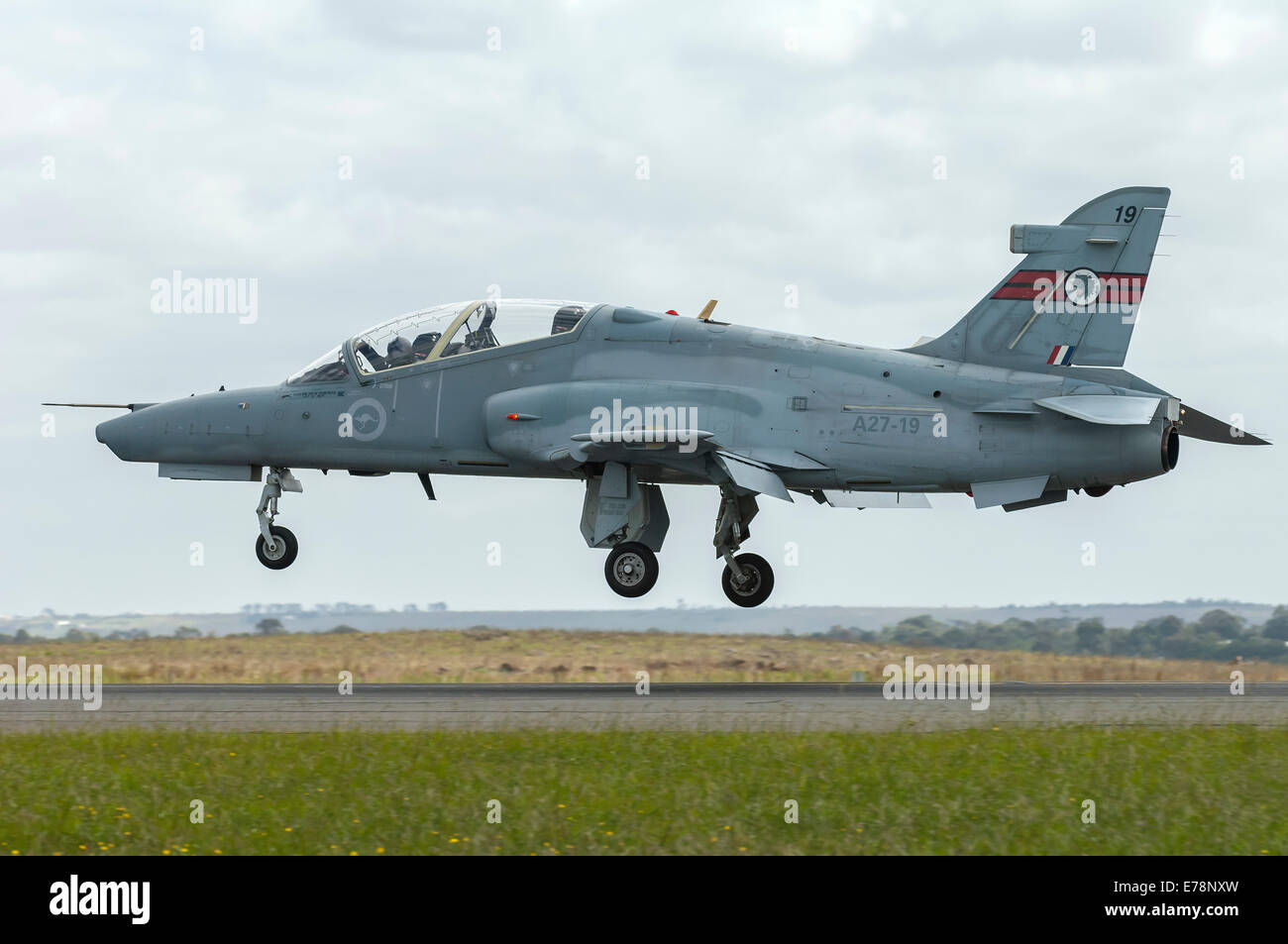 BAe Hawk 127 of the RAAF at Avalon Airport during the Australian Bicentennial Air Show - Stock Image