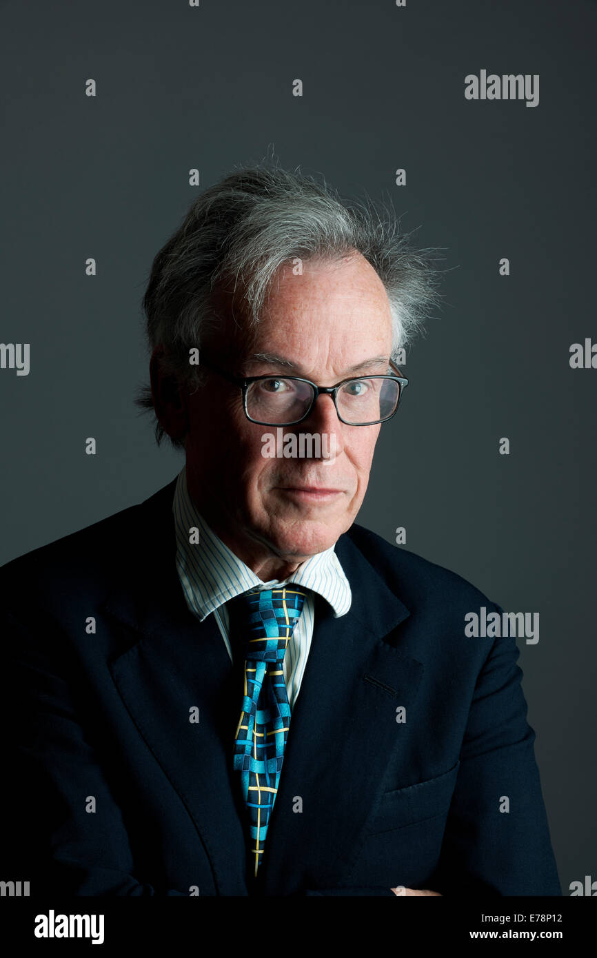 Andrew Barrow at the Oldie Literary Lunch 9-9-14 - Stock Image