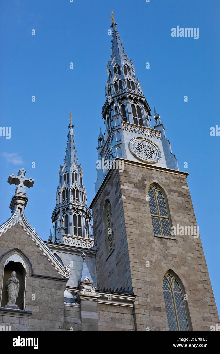 Notre-Dame Cathedral Basilica, Ottawa - Stock Image