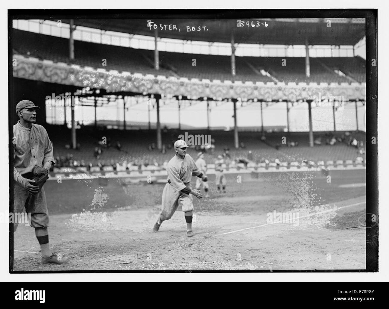 [Sam Agnew (catching) & George Rube Foster (throwing), Boston - Stock Image