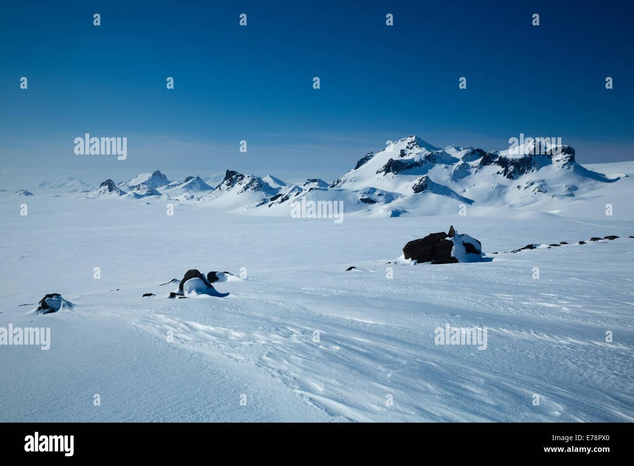 The Langjökull glacier, Iceland - Stock Image
