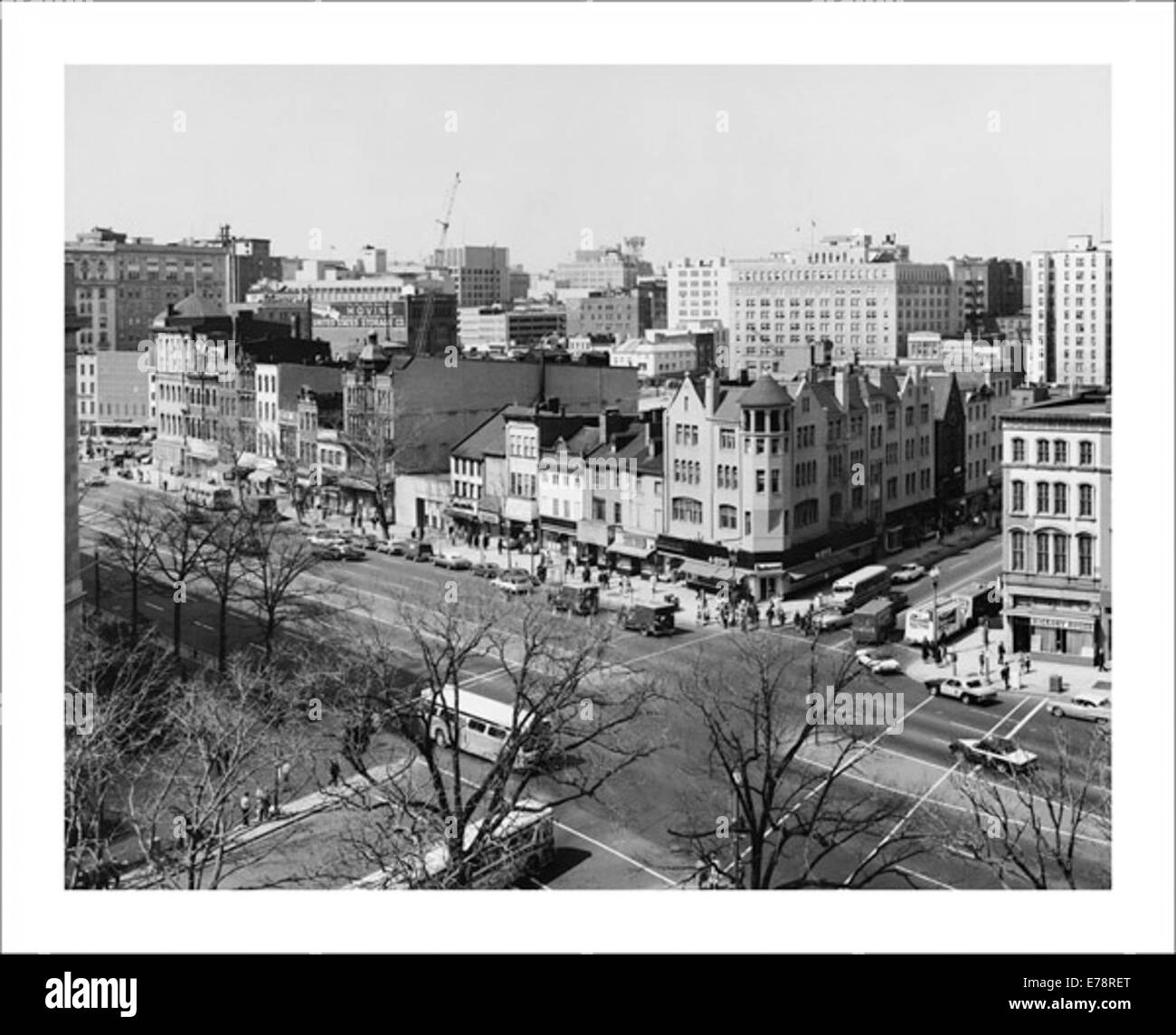 Photograph of View of Pennsylvania Avenue and 9th Street - Stock Image