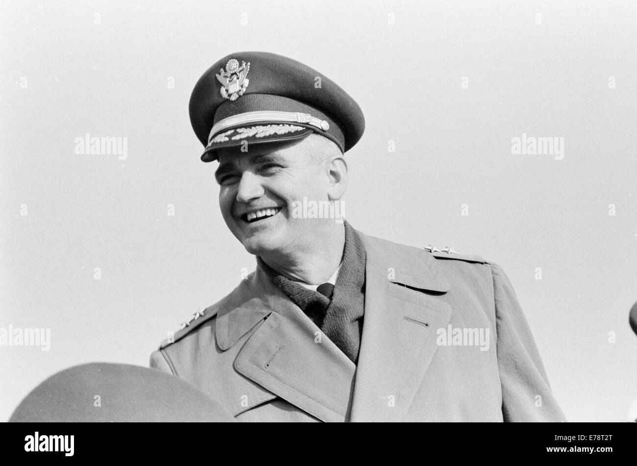 Military Officer at Army-Navy Football Game, Philadelphia - Stock Image