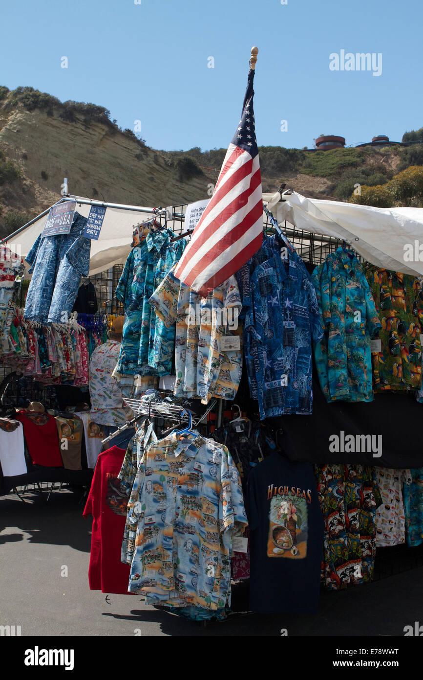 Hawaiian shirts for sale Stock Photo