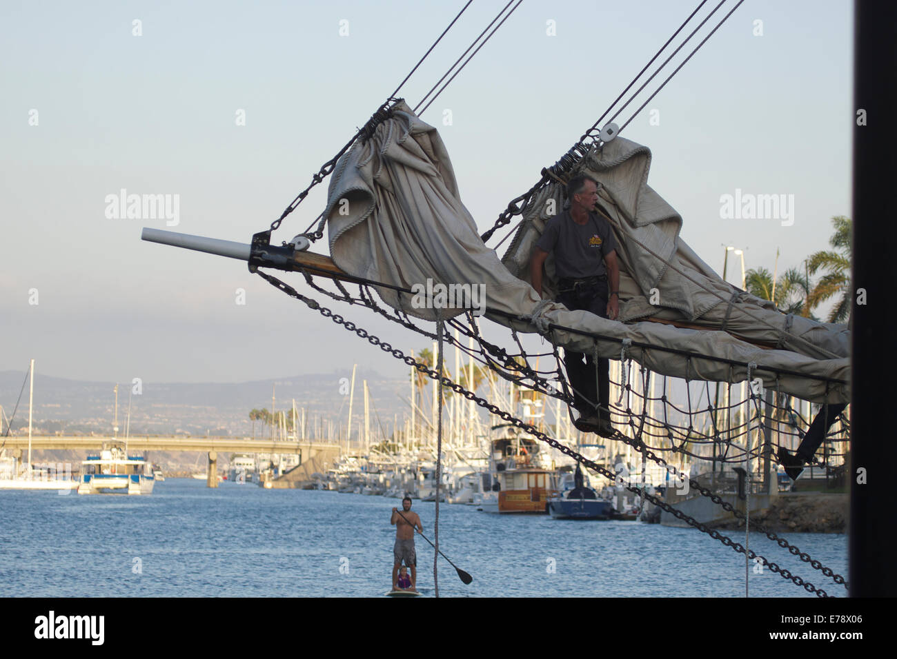 30th Annual Toshiba Tall Ships Festival in Dana Point Harbor Southern California Stock Photo