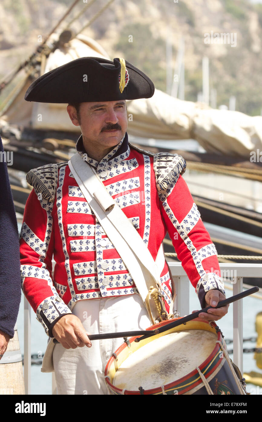 Entertainers in British sailors costume at the 30th Annual Toshiba Tall Ships Festival Dana Point Harbor Southern Stock Photo