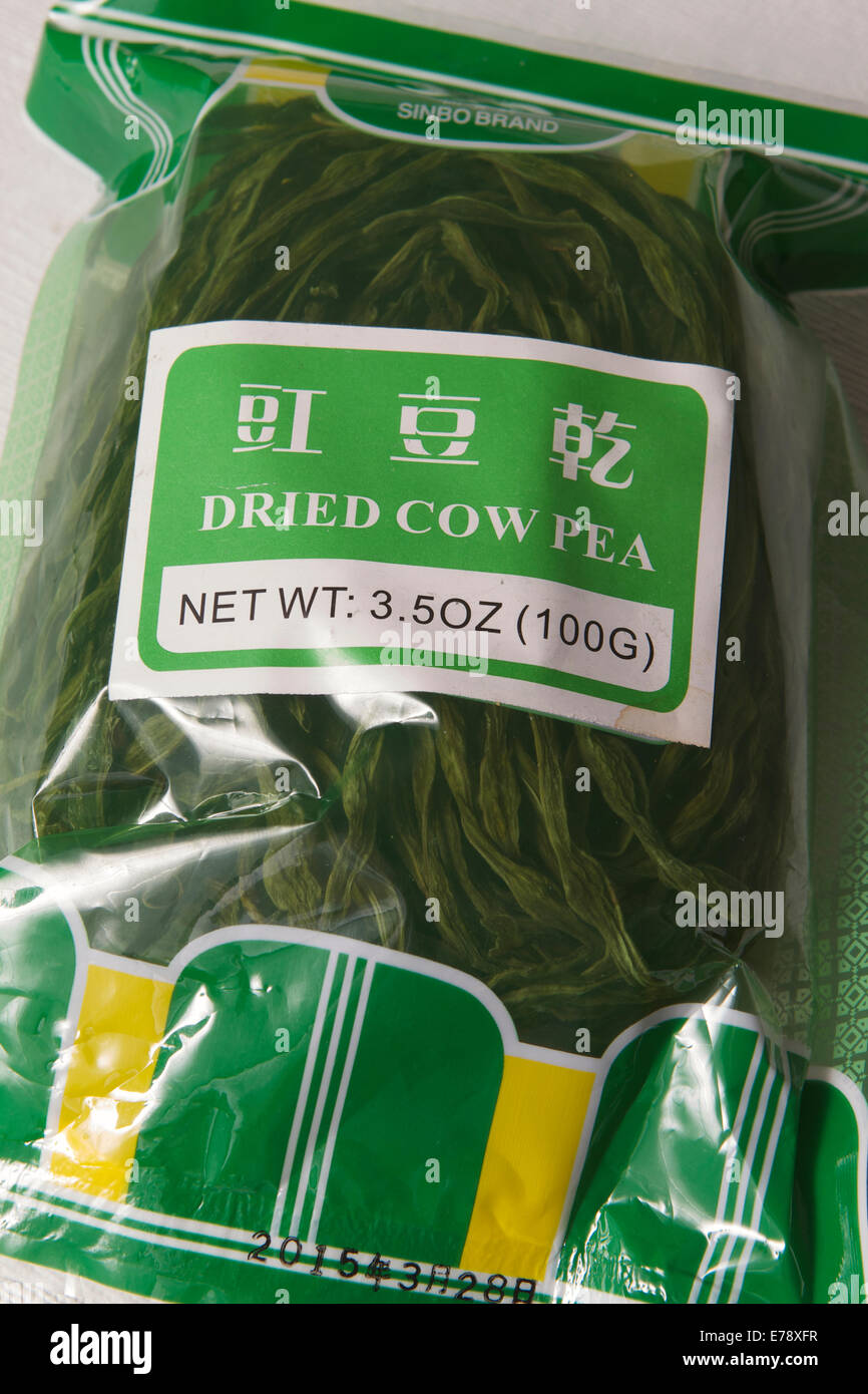 Food with strange names Dried Cow pea - Stock Image