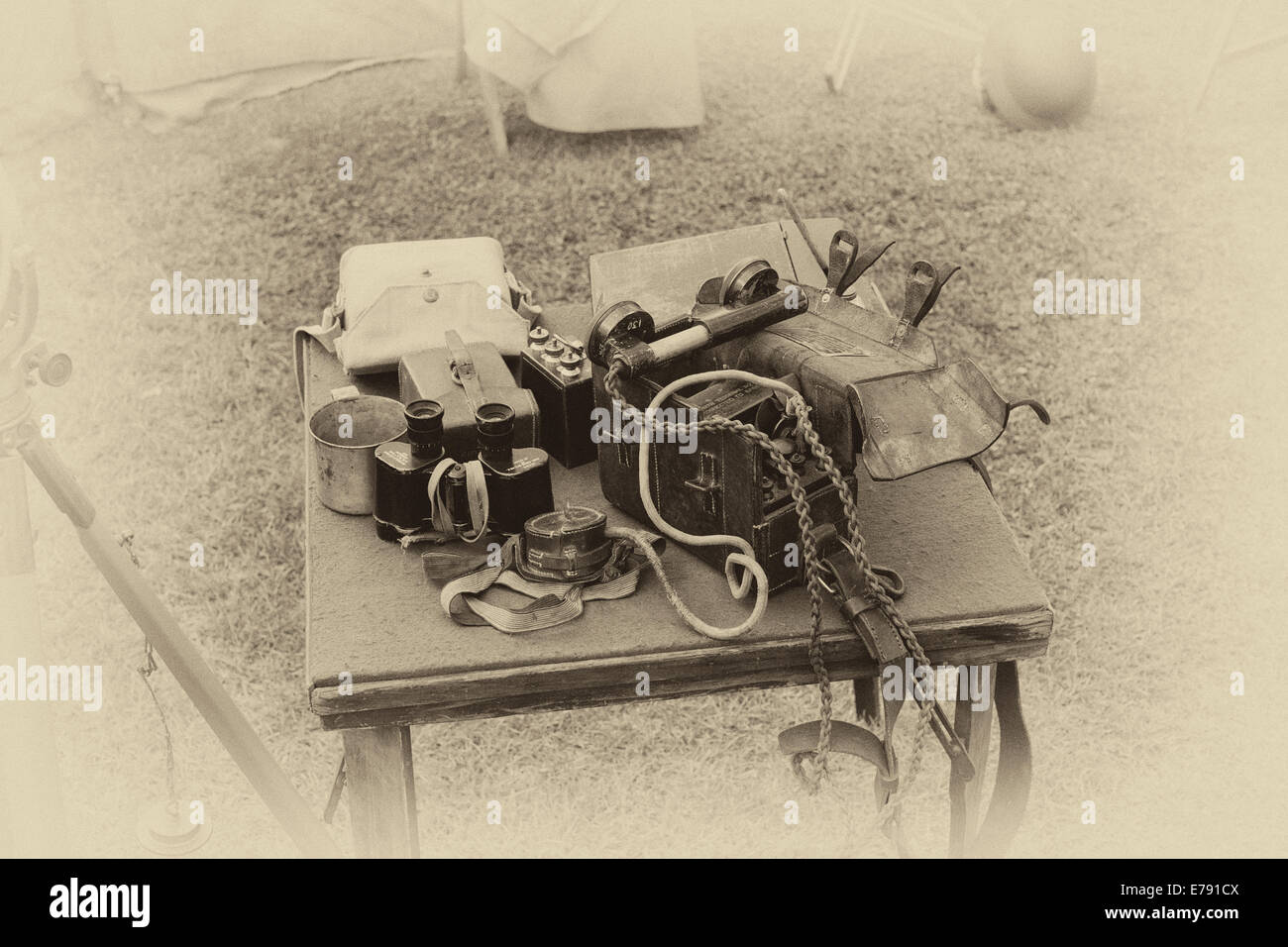Home guard communications equipment - Stock Image