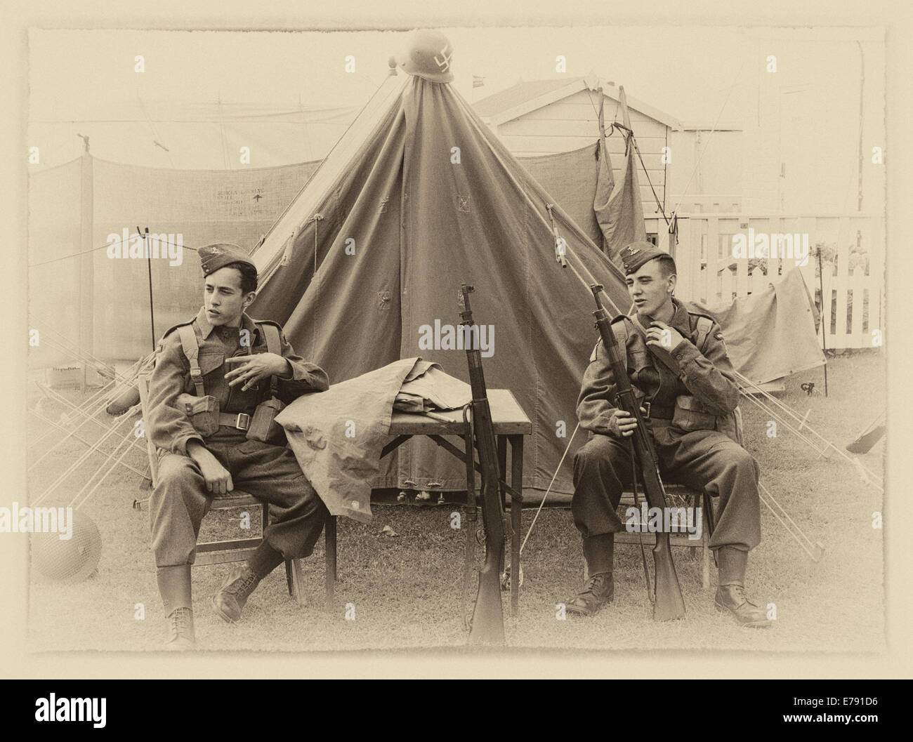 Home guards - Stock Image