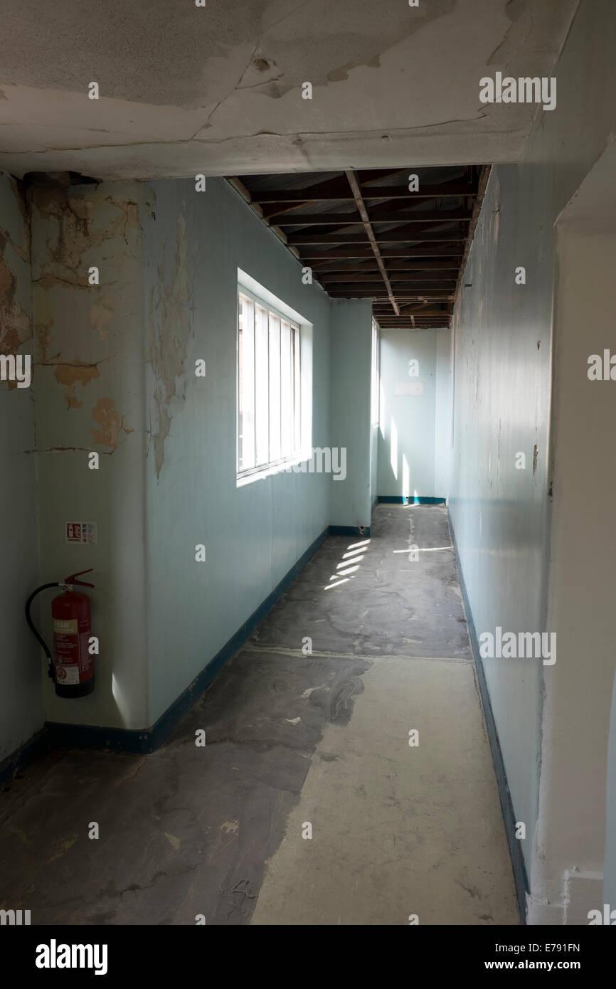 Empty Abandoned Asylum Corridor Ghosts Scary Stock Photo Alamy