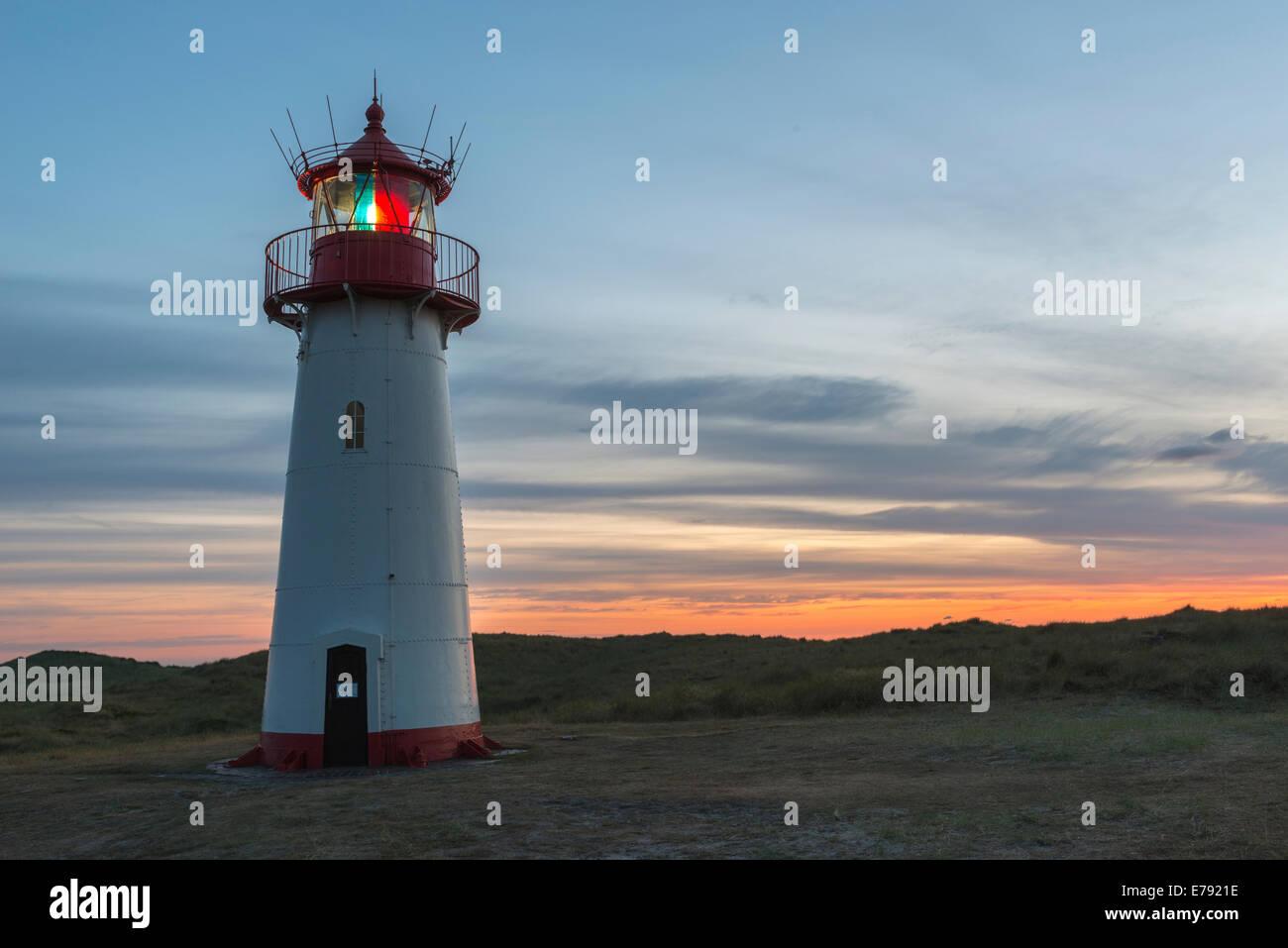 Lighthouse On The Island Sylt Germany Stock Photo 73343242 Alamy