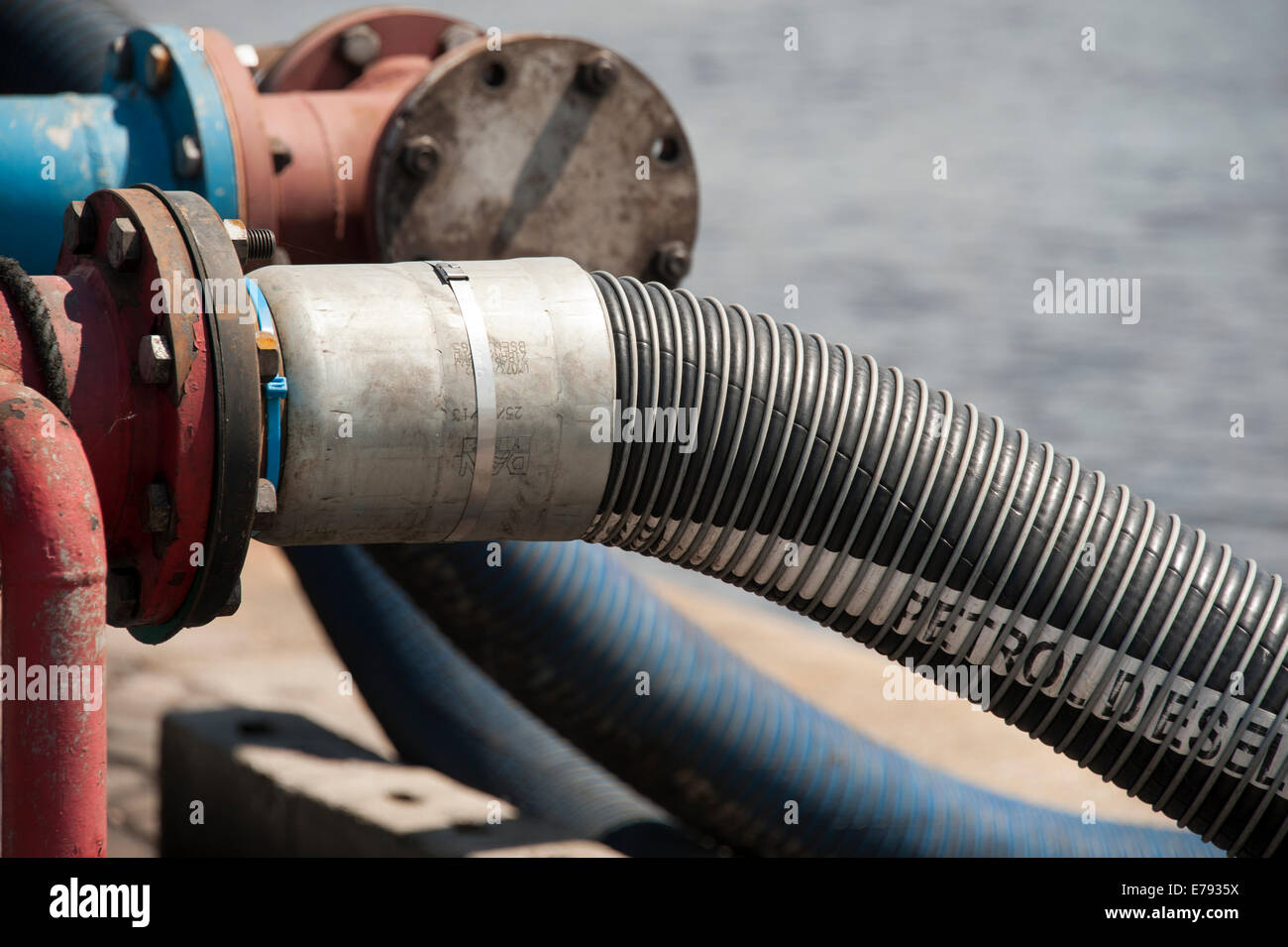 Pipe Flange Seal Flexible Hose Fuel Flammable Seal - Stock Image