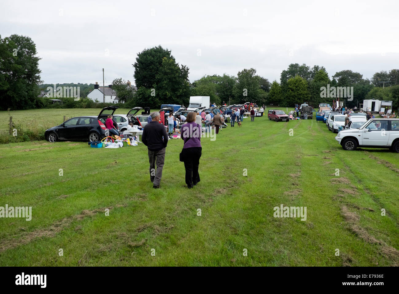 Car Boot Sale Bric a Brac Attic Junk Market Sell Stock Photo ...