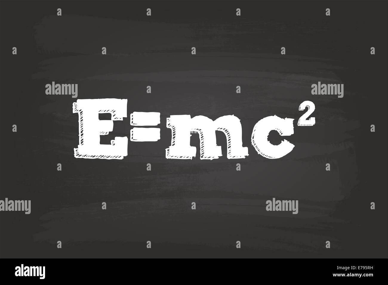 Einstein Theory Of Relativity Formula On Blackboard Stock Photo