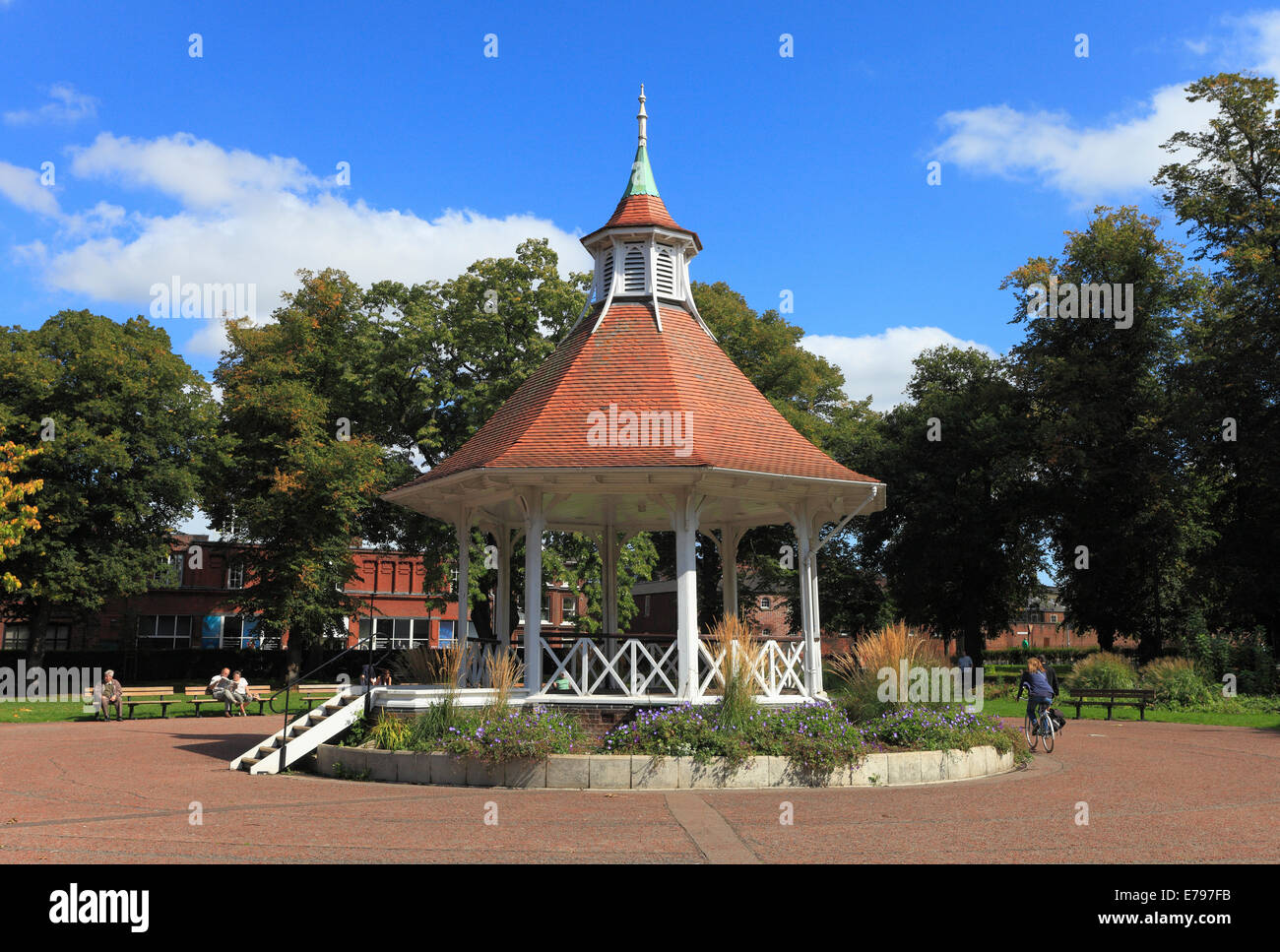 The bandstand in Chapelfield Gardens, Norwich, Norfolk, England. - Stock Image