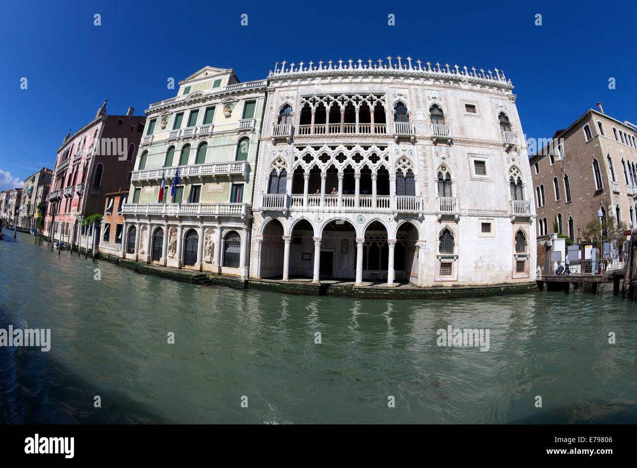Ca' d'Oro, 15th century,  Grand Canal, Venice, Italy, Europe - Stock Image