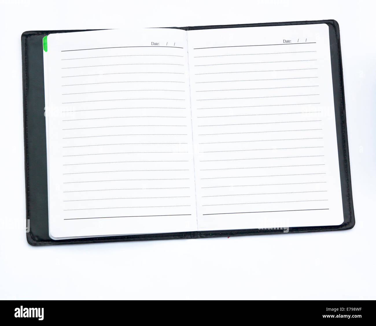 old notebook paper on a sheet of paper. - Stock Image