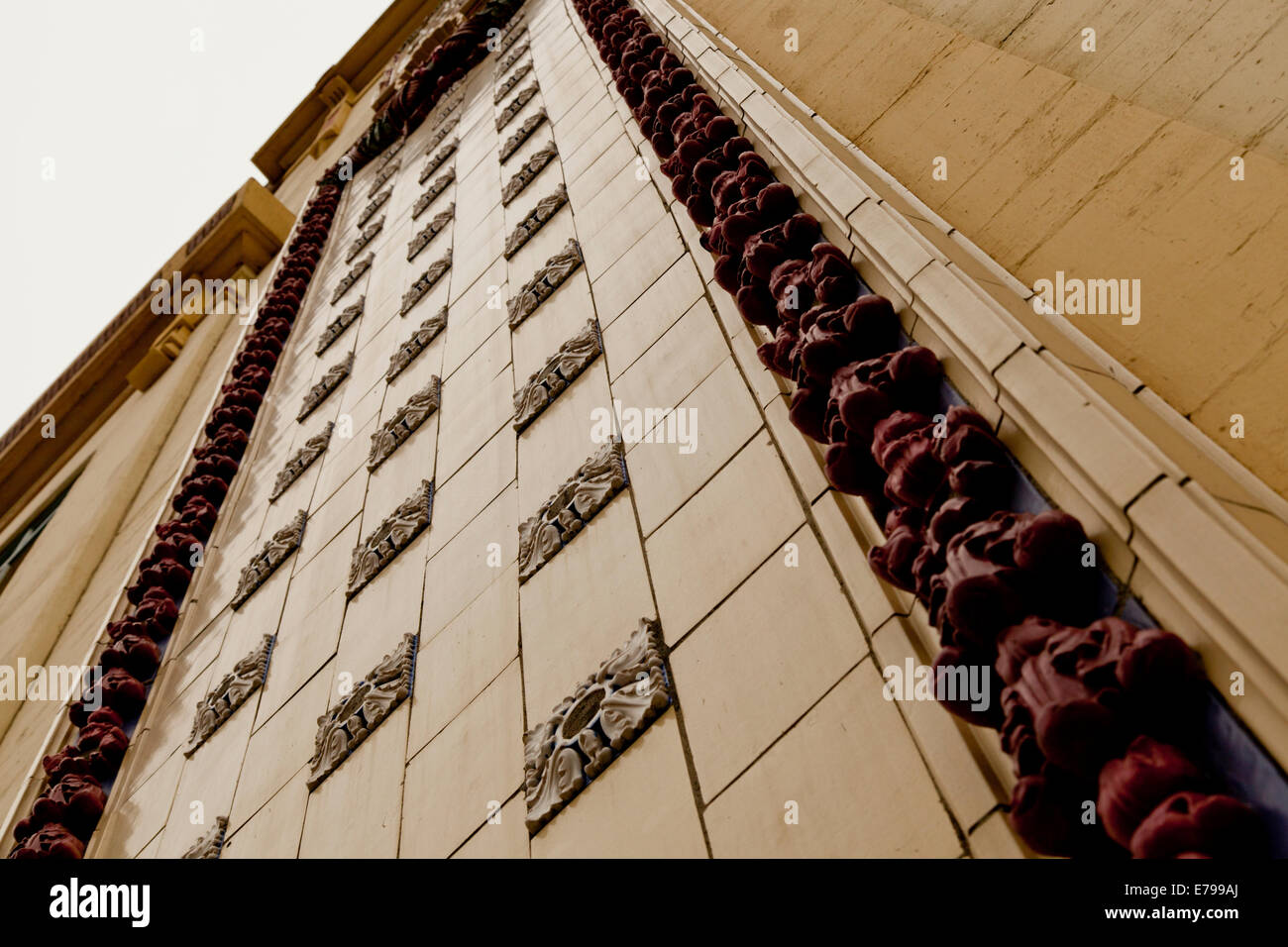 Low angle view of the City Power and Light Building in Seattle - Stock Image