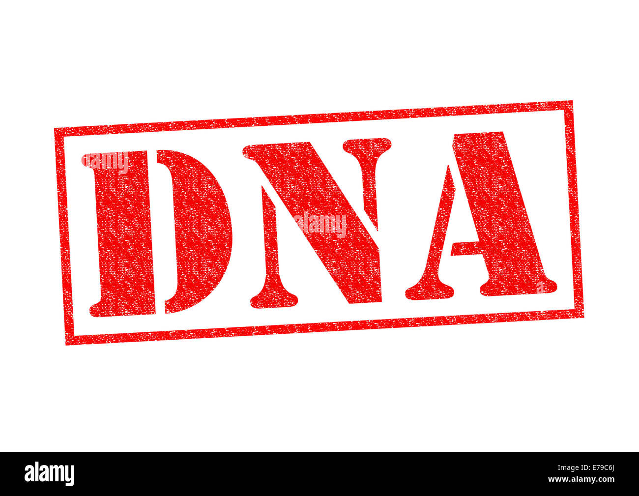 DNA red Rubber Stamp over a white background. - Stock Image