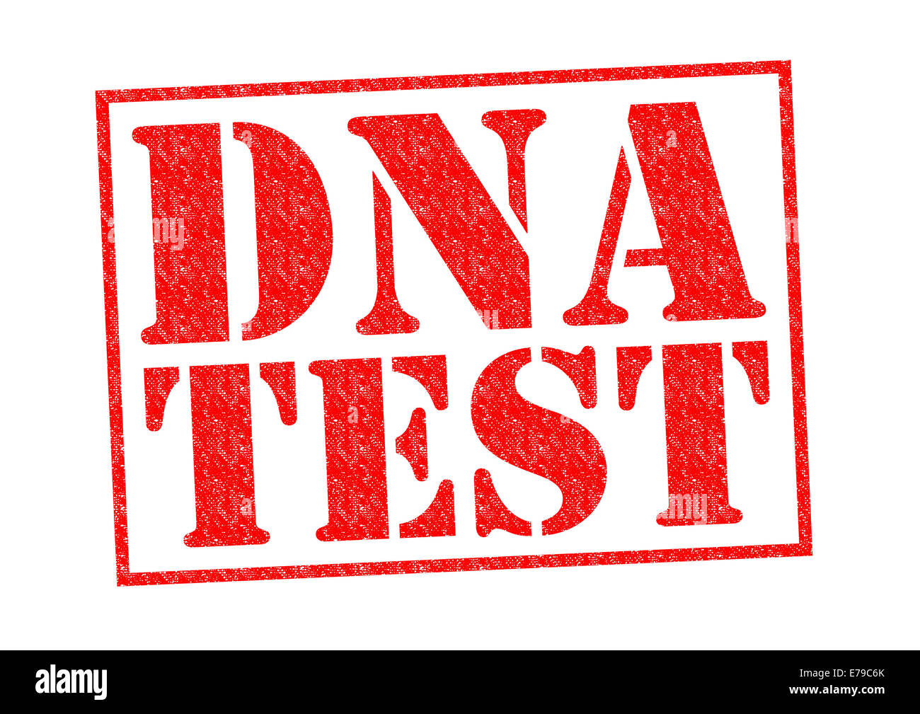 DNA TEST red Rubber Stamp over a white background. - Stock Image