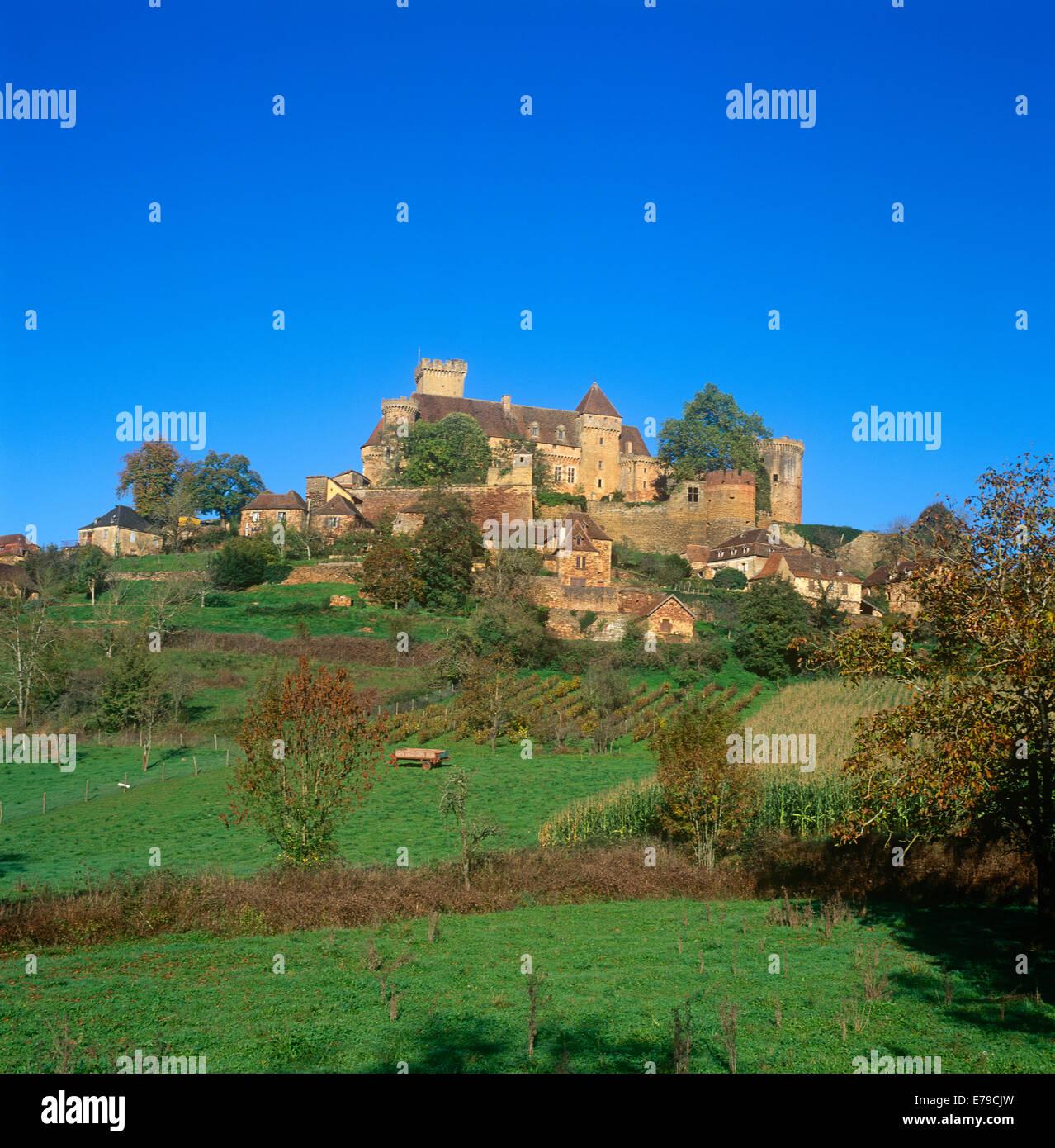 Castelnau-Bretenoux Castle Dordogne France Stock Photo