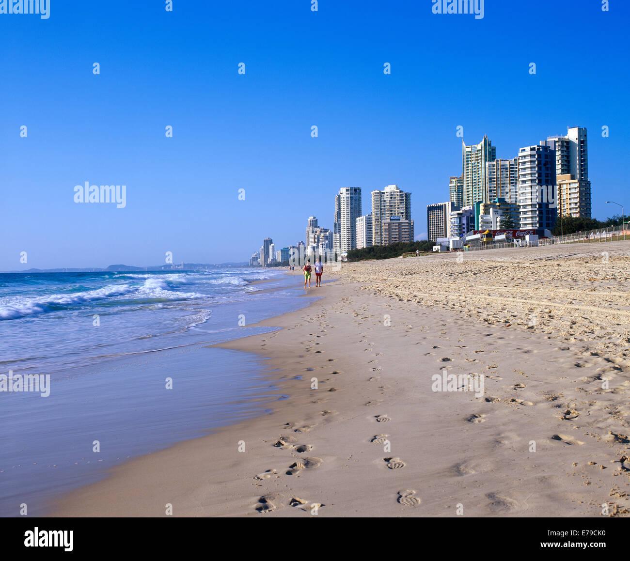 Surfers Paradise Beach Queensland Australia - Stock Image