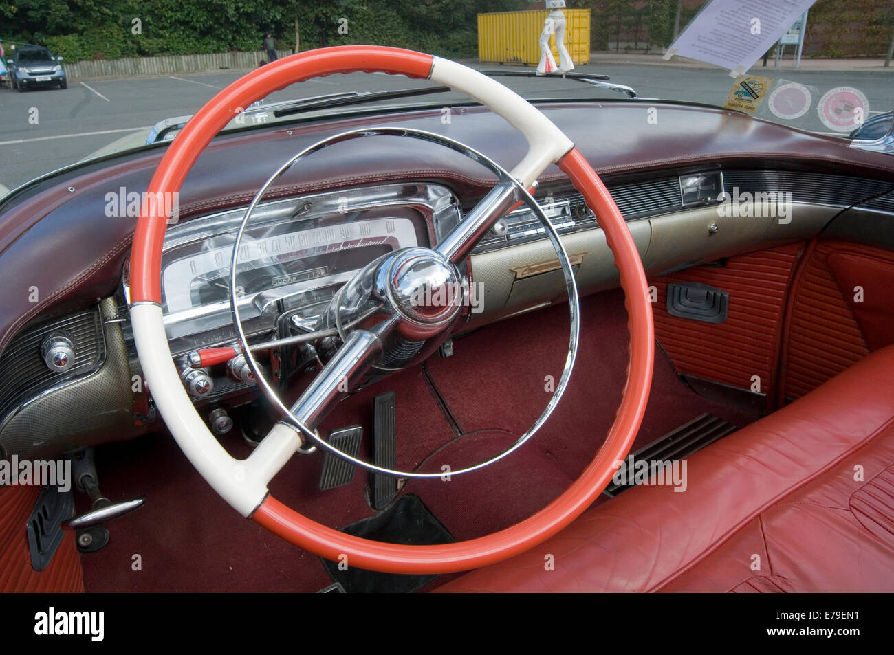 Excellent Cadillac Big Steering Wheel 1950S Car Cars Interior Ibusinesslaw Wood Chair Design Ideas Ibusinesslaworg