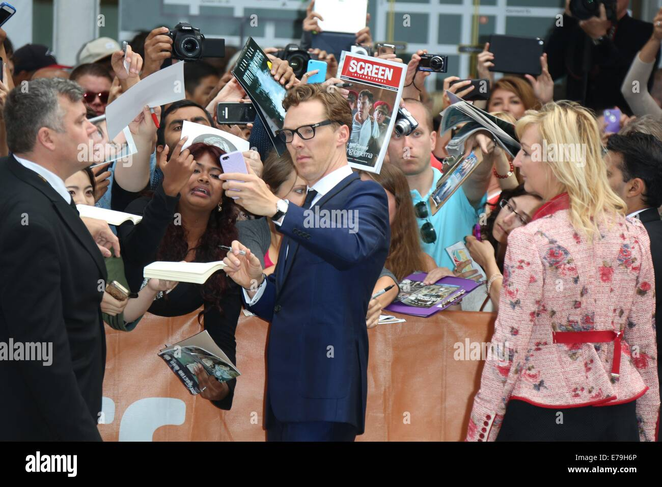 Toronto, Canada. 09th Sep, 2014. Actor Benedict Cumberbatch attends the premiere of 'The Imitation Game' - Stock Image