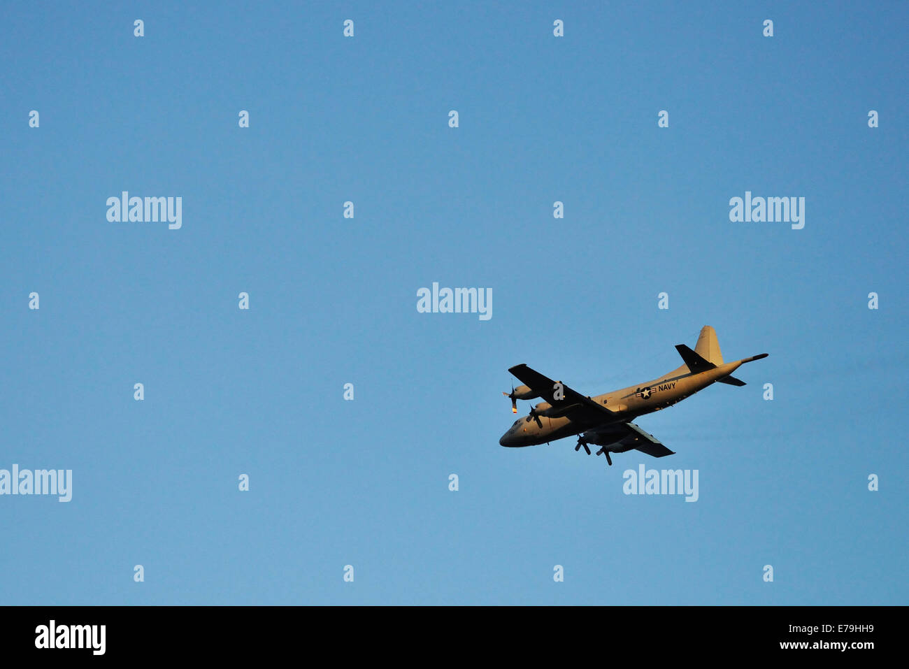 US Navy military airplane, Big Island, Hawaii Islands, USA - Stock Image