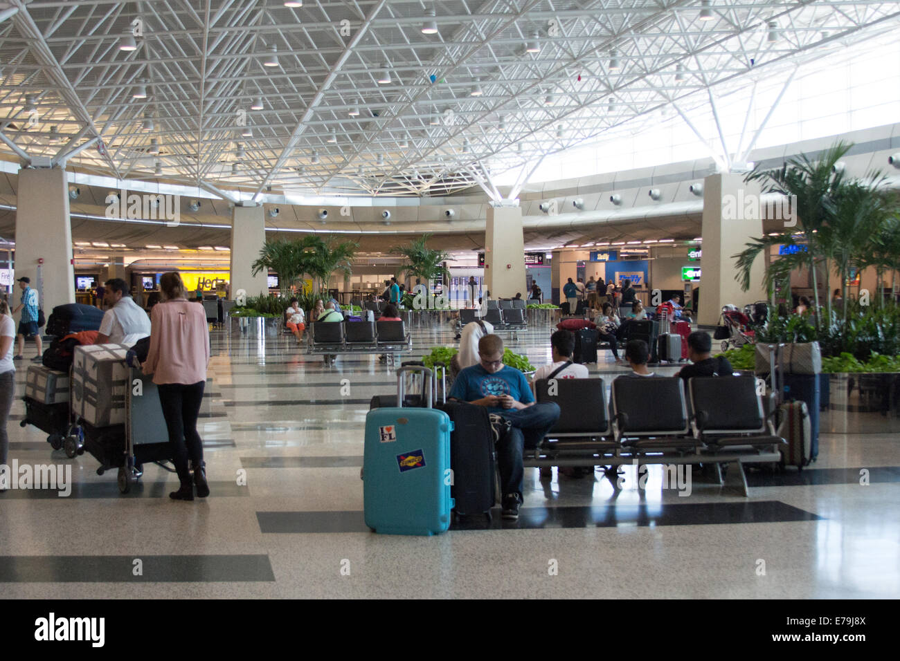 miami airport rental car center stock photo: 73355994 - alamy