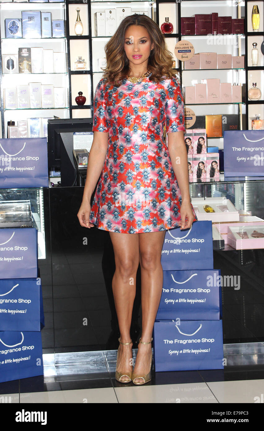 c073c1899 Alesha Dixon Fragrance Launch photocall at the Fragrance Shop, Westfield,  London Featuring: Alesha Dixon Where: London, United Kingdom When: 08 Mar  2014