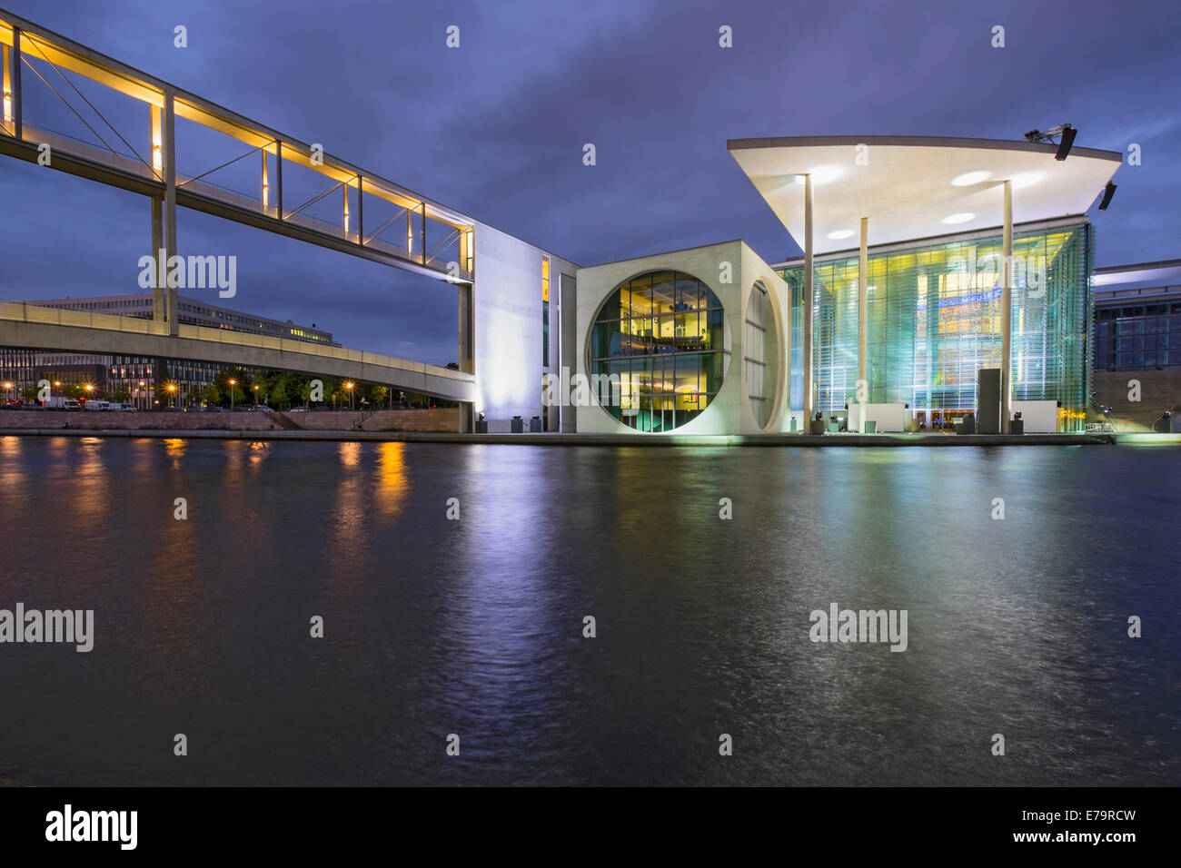 Government buildings Marie-Elisabeth Luders haus part of Bundestag at Regierungsviertel (Government District  beside Stock Photo