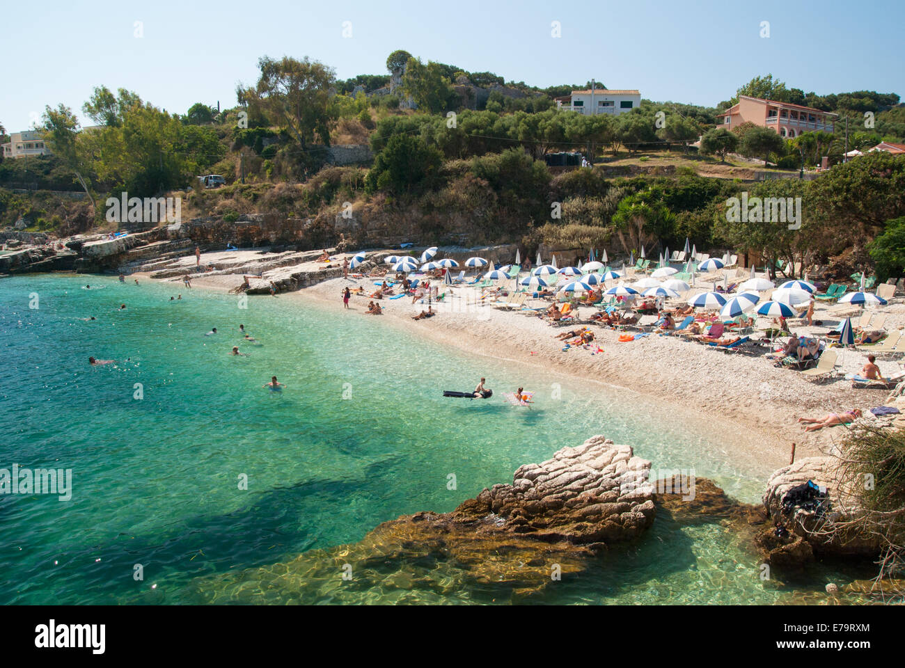 Kassiopi Beach, Corfu Island, Ionian Sea, Greece. - Stock Image