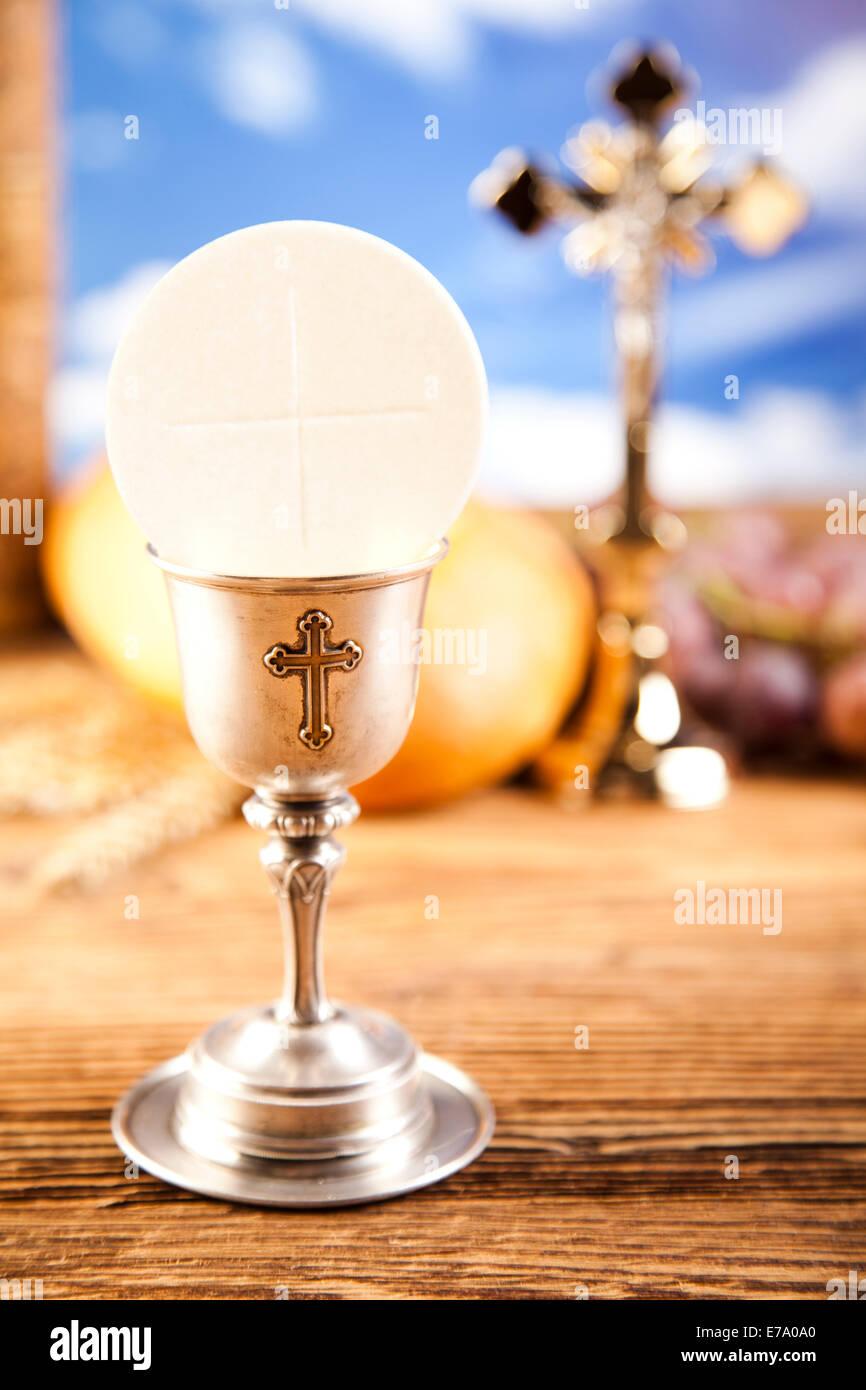holy communion bread wine stock photo 73363864 alamy