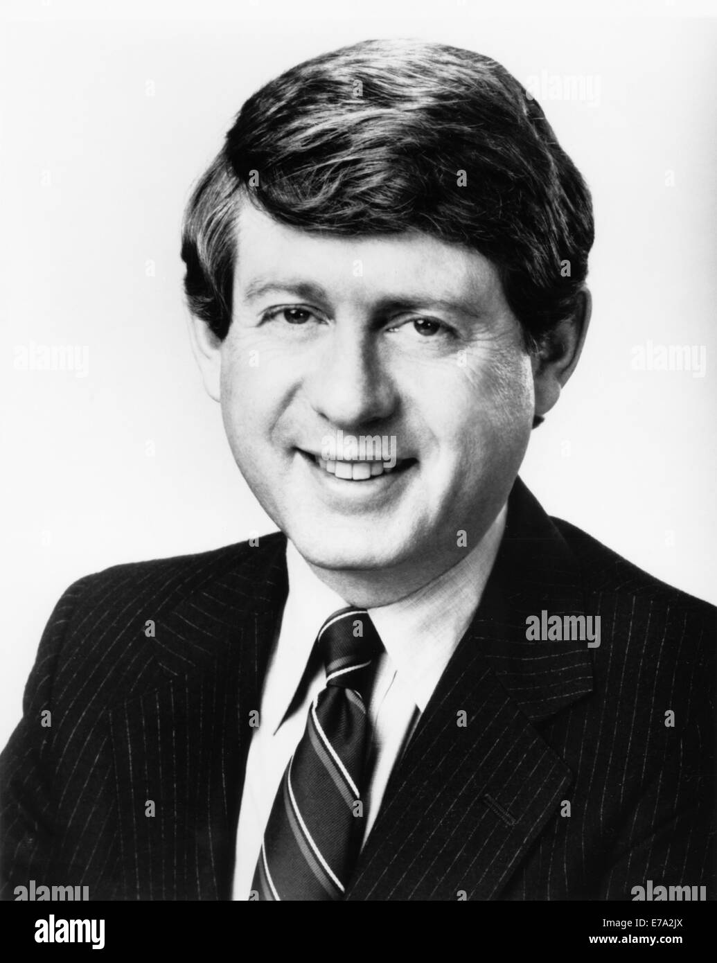 Ted Koppel, British-American Broadcast Journalist, Portrait, circa 1980's - Stock Image