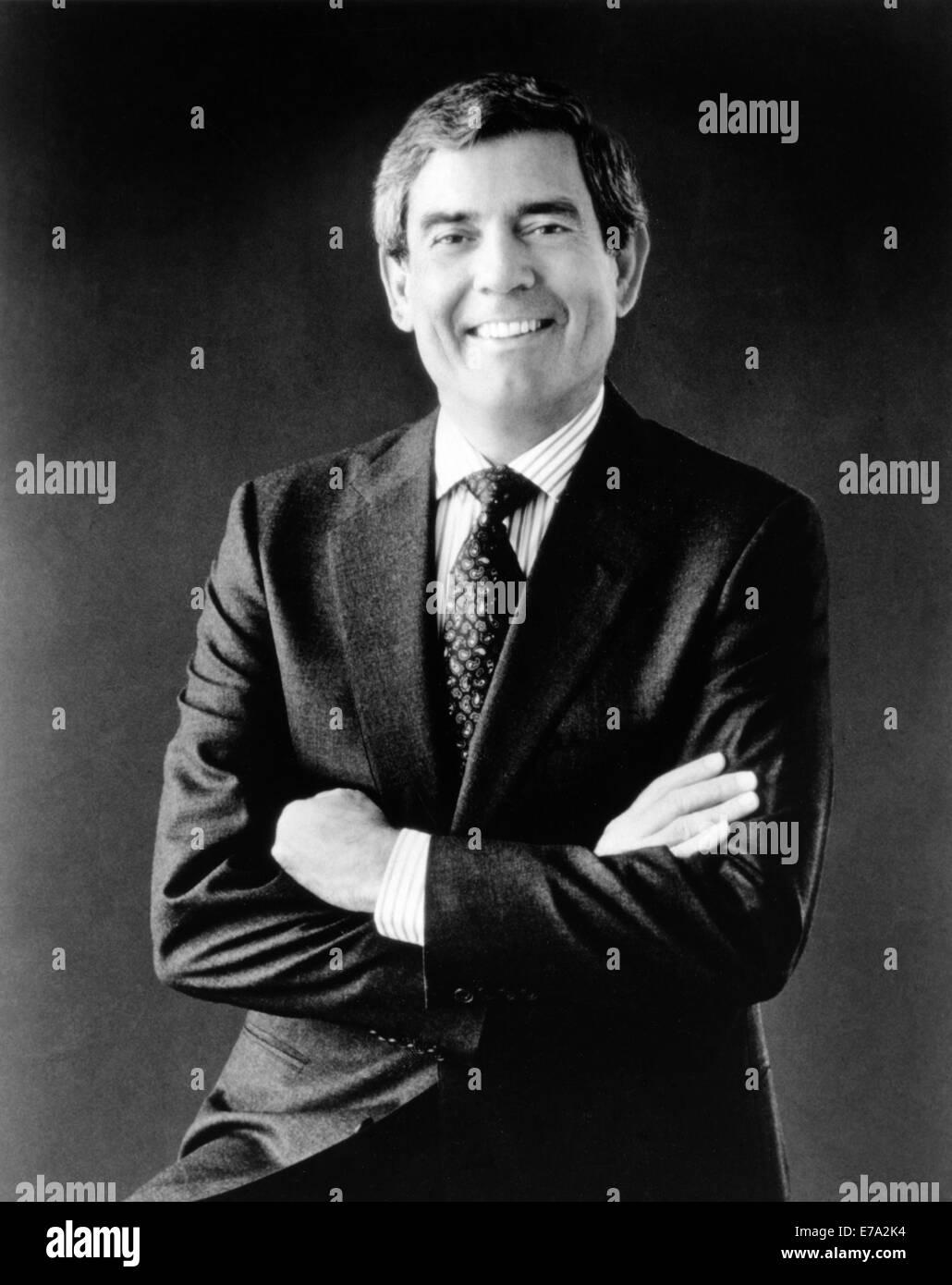 Dan Rather, American Broadcast Journalist, Portrait, circa early 1980's - Stock Image