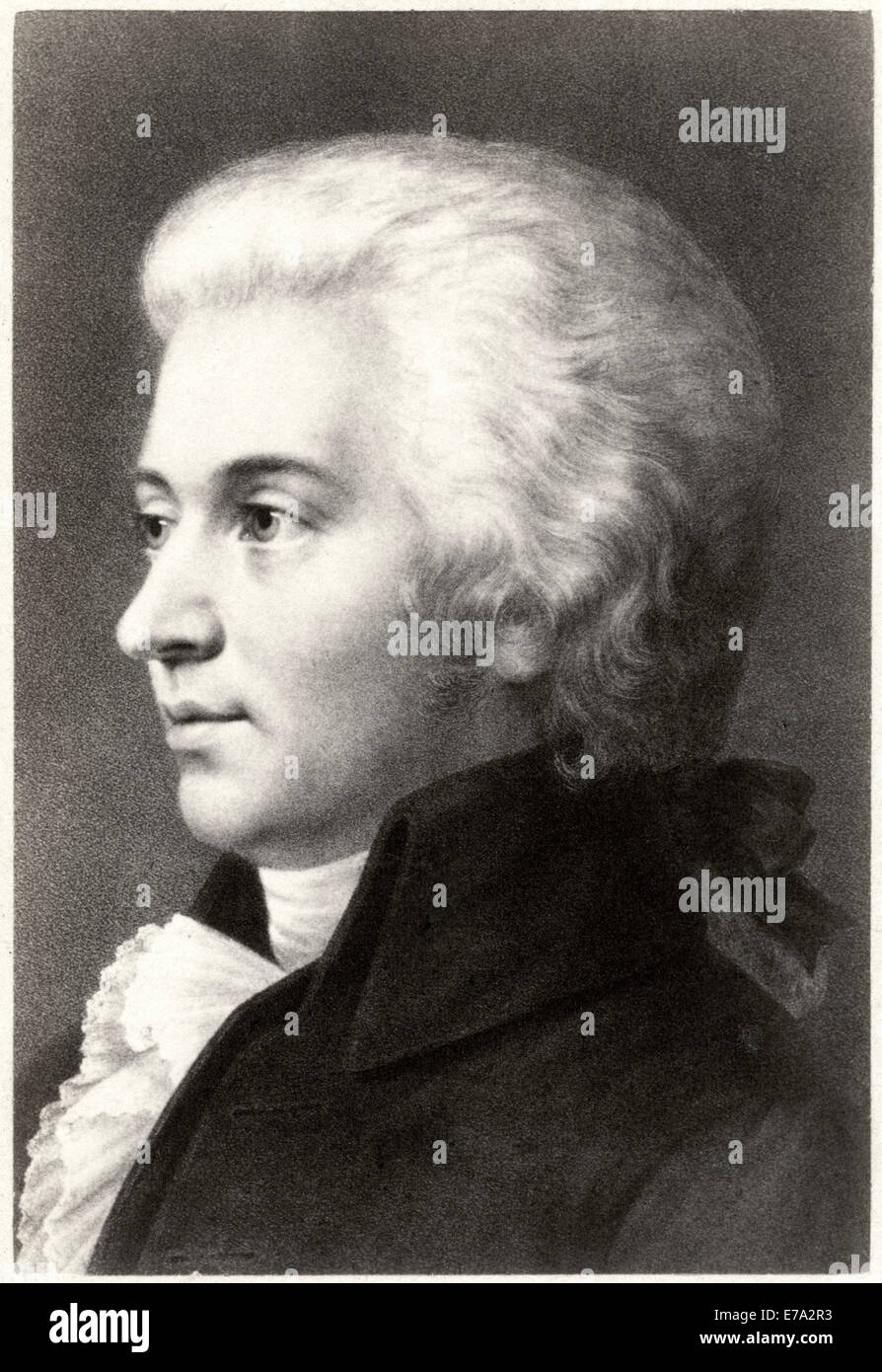Wolfgang Amadeus Mozart (1756 –1791), Composer during Classical Era, Portrait, Cabinet Card - Stock Image