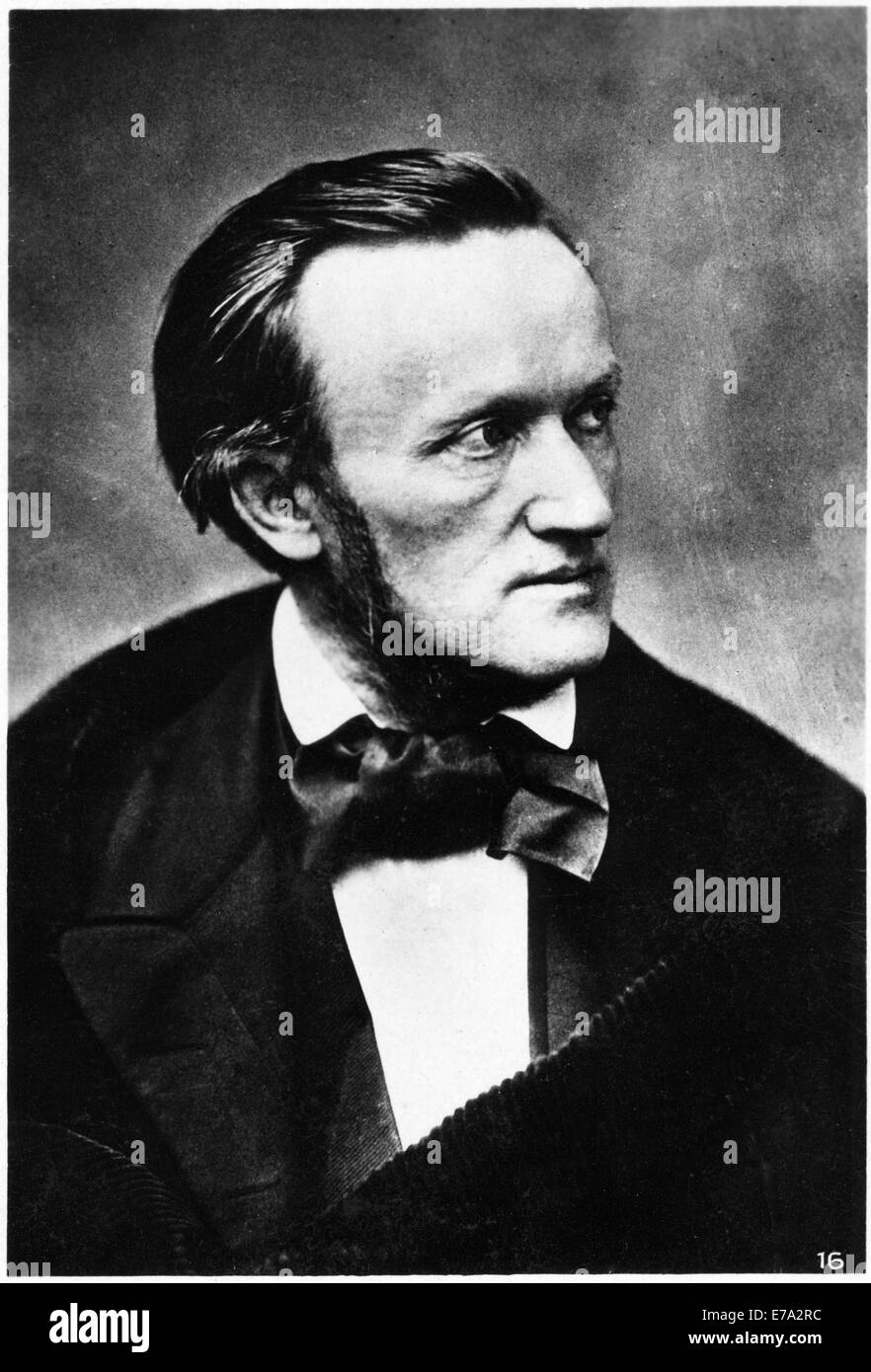 Richard Wagner (1813-1883), German Opera Composer, Portrait, circa 1860's - Stock Image