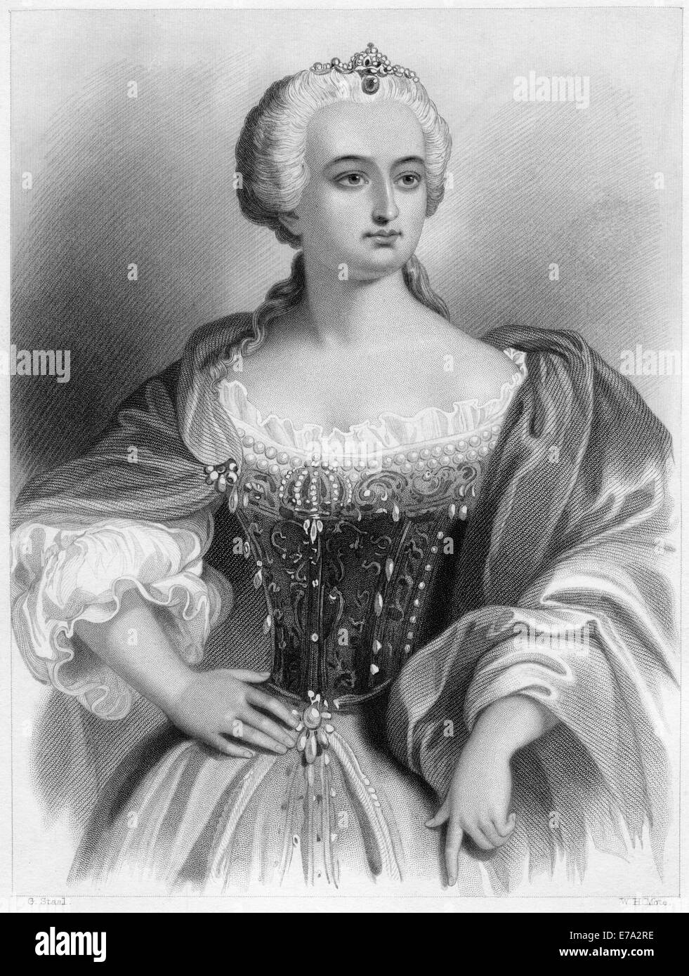 Maria Theresa (1717-1780), Archduchess of Austria, Queen of Hungary and Bohemia, Portrait - Stock Image