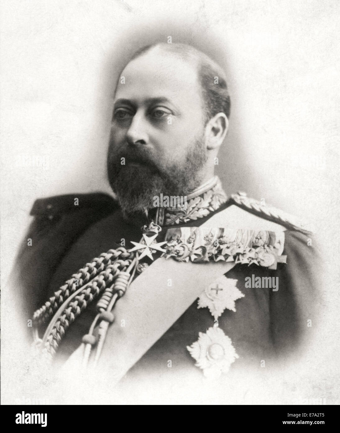 Edward VII (1841-1910) King of England 1901-10, Portrait as Prince of Wales, circa 1890 - Stock Image