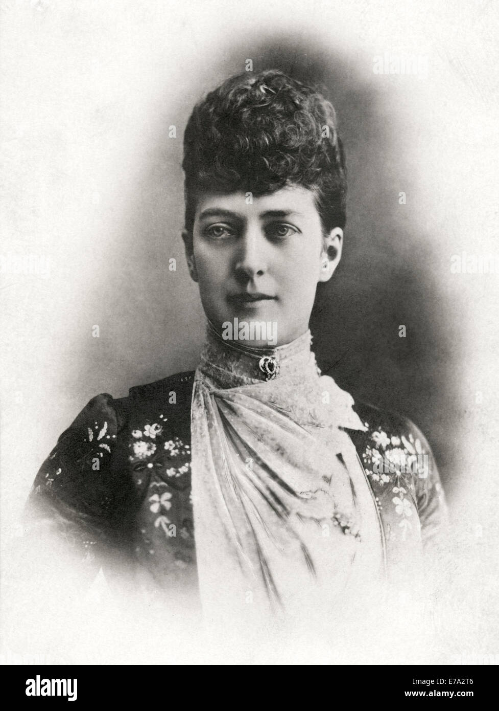 Alexandra of Denmark (1844-1925), Queen Consort of United Kingdom and Empress of India as Wife of King Edward VII, - Stock Image