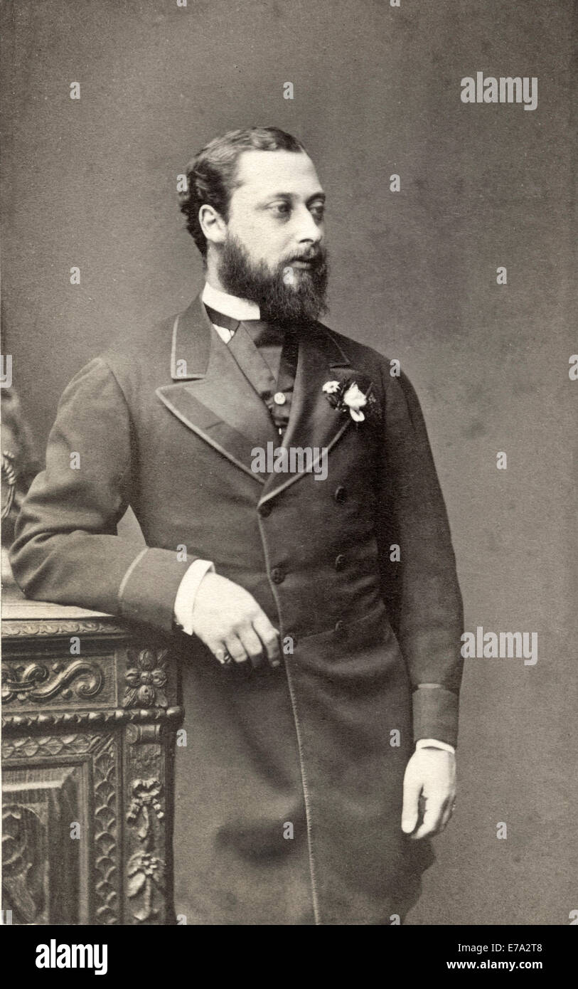 Albert Edward (1841-1910), Future Edward VII King of England 1901-10,Portrait as Prince of Wales, circa late 1860's - Stock Image